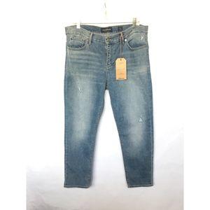 Lucky Brand Womens Medium Wash Brooke Crop Jeans